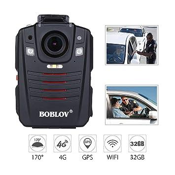 Cámara de Cuerpo portátil 170 ° Gran Angular GPS Audio y Video Trabajo Grabador WiFi IR