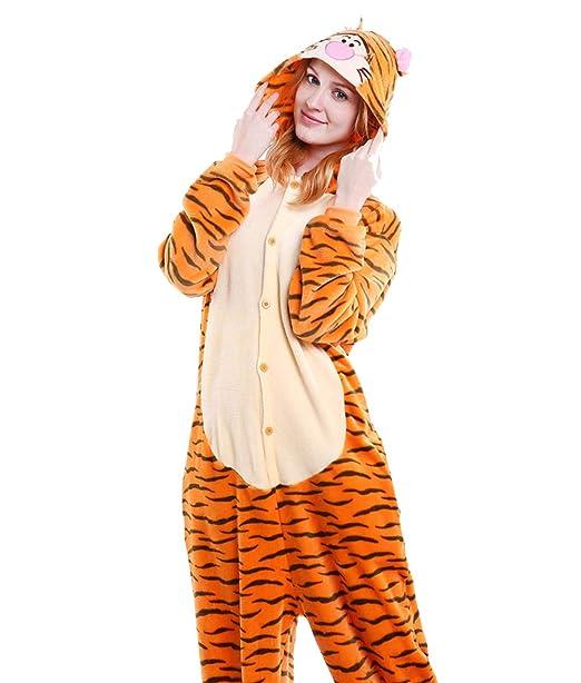 53654d4385b9 LadyKing Women s Tiger Onesie Unisex Anime Sleep Wear Pajamas Costume  Christmas S