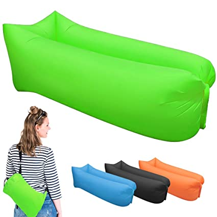 Inflatable Lounger Portable Air Beds Sleeping Sofa Couch For Travelling Camping Beach