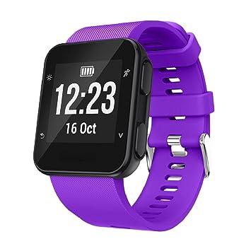 Correa de repuesto de silicona para reloj inteligente Garmin Forerunner 35., color morado: Amazon.es: Deportes y aire libre