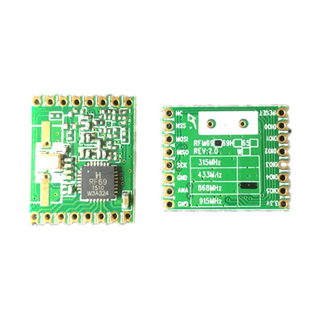 FLAMEER Module D/évasion de Carte D/émetteur-r/écepteur sans Fil Rfm69hc SPI 20dbm 868mhz