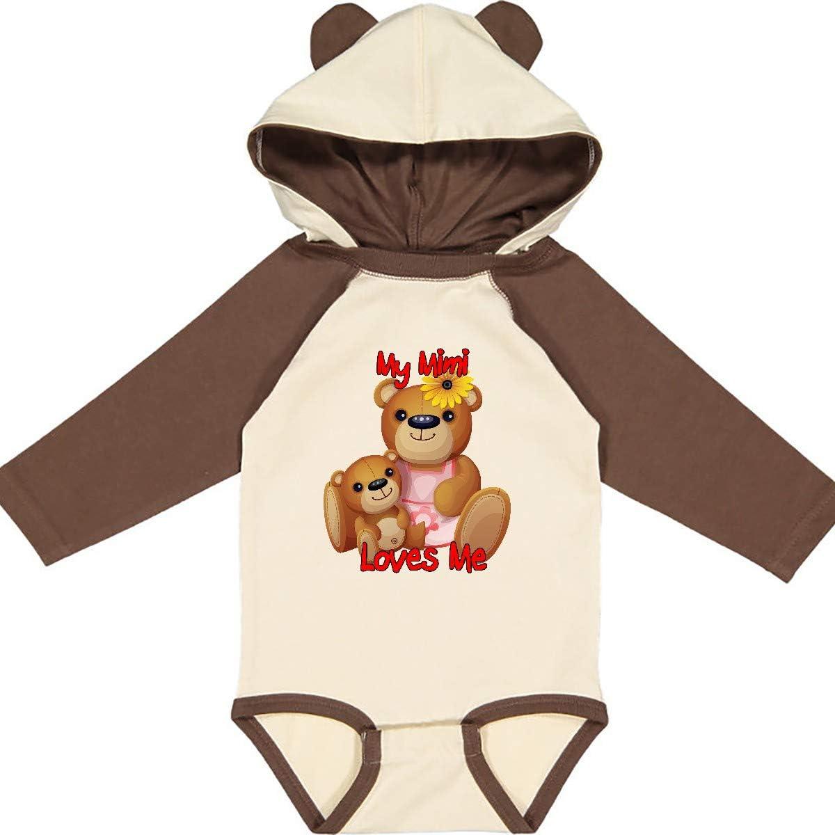 inktastic My Mimi Loves Me Teddy Bear Long Sleeve Creeper