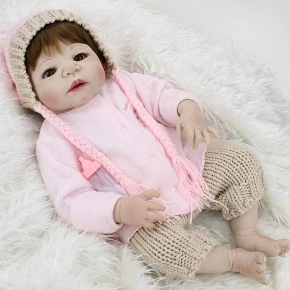 JFW-Reborn Baby Die Wiedergeburt der Puppe Simulation von hartem Silikagel Vinyl 22 Zoll 55 cm Guter Freund der Kinder Die Abdichtung des Badespielzeugs Girl
