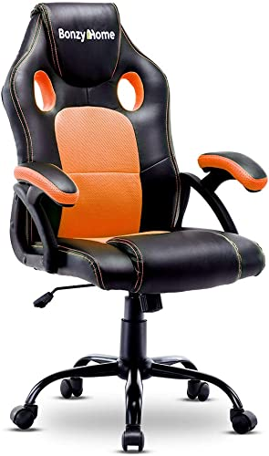 Bonzy Home Gaming Chair Racing Office Computer Game Chair Ergonomic Backrest