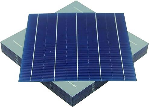 VIKOCELL 10Pcs 156MM 5W Monocrystalline Silicon Solar Cell 6x6 for DIY Solar Panel