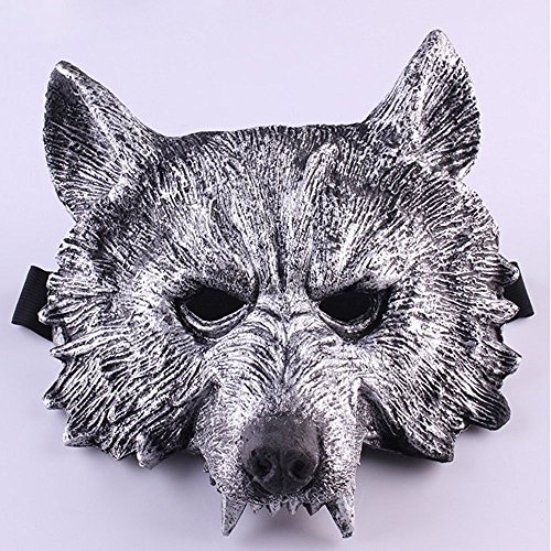 LUCKSTAR(TM) Halloween Terror Face Wolf Werewolf Mask Decoration for Cospaly Costume Party Theater Prop Themed Bar Decoration (Style 2)]()