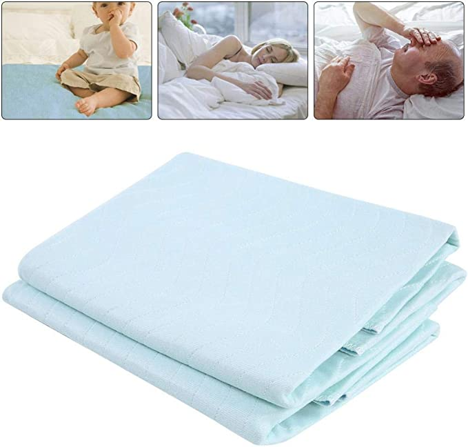 Colchoneta para cama almohadillas de incontinencia lavables y ...