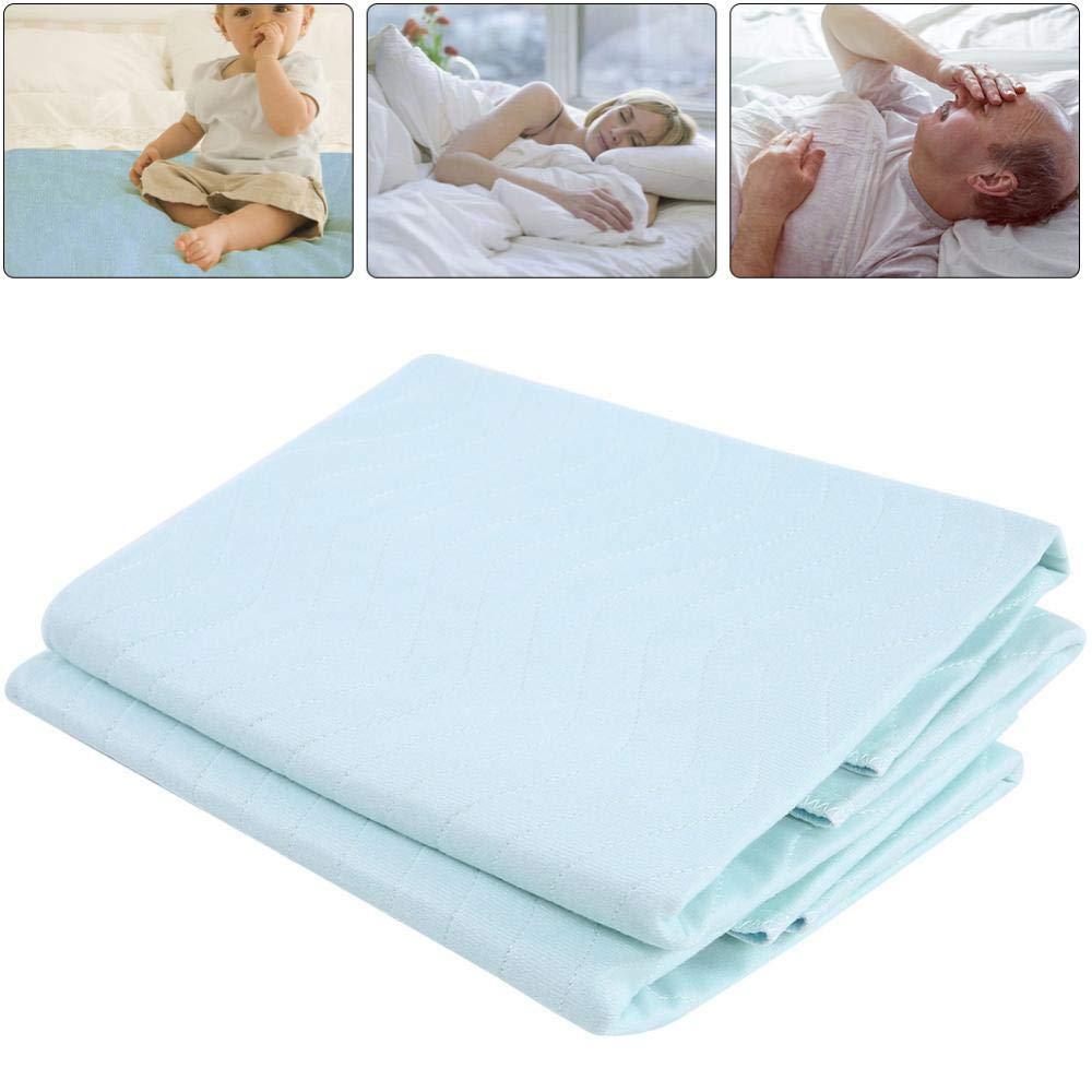 Colchoneta para cama almohadillas de incontinencia lavables y reutilizables con una fuerte absorbencia para personas mayores con incontinencia adultos mayores beb/és