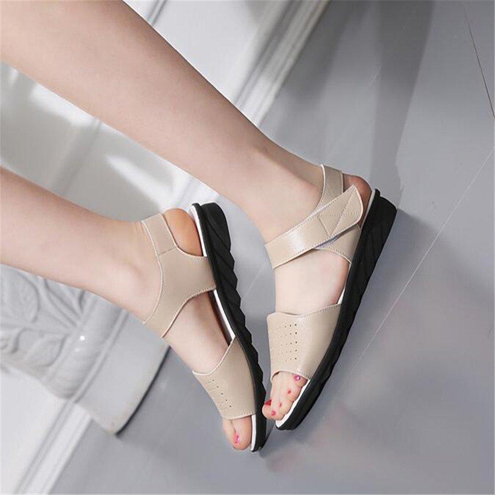 Piatto femmina sandali Soft alla fine con profili di chiusura non scorrevoli, donne in stato di gravidanza madre scarpe, 33 EU, latte bianco C08
