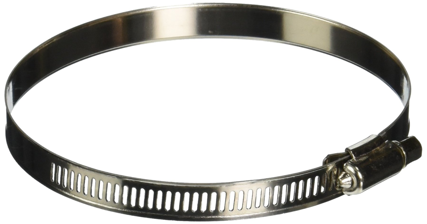 Uxcell Adjustable Range Stainless Steel Band Worm Gear Hose Clamp (2 Piece), 91-114mm