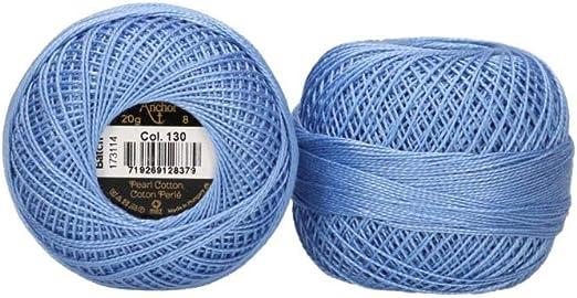 Anchor - Hilo para bordar, 8 hilos, 100 % algodón, azul celeste ...