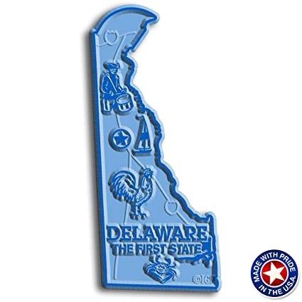 Amazon.com: Delaware State Map Magnet: Kitchen & Dining on