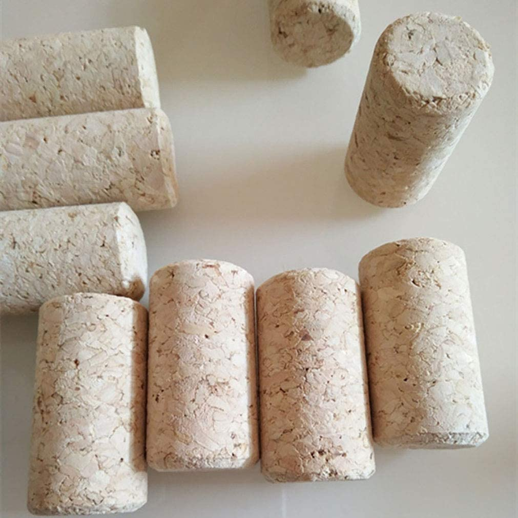 """Pack of 50 Enkrio Wine Cork New #9 Agglomerated Corks Natural Straight Corks Stopper for Bottling of Wines or Bulk Craft Corks 1-3//4/"""" x 15//16/"""""""