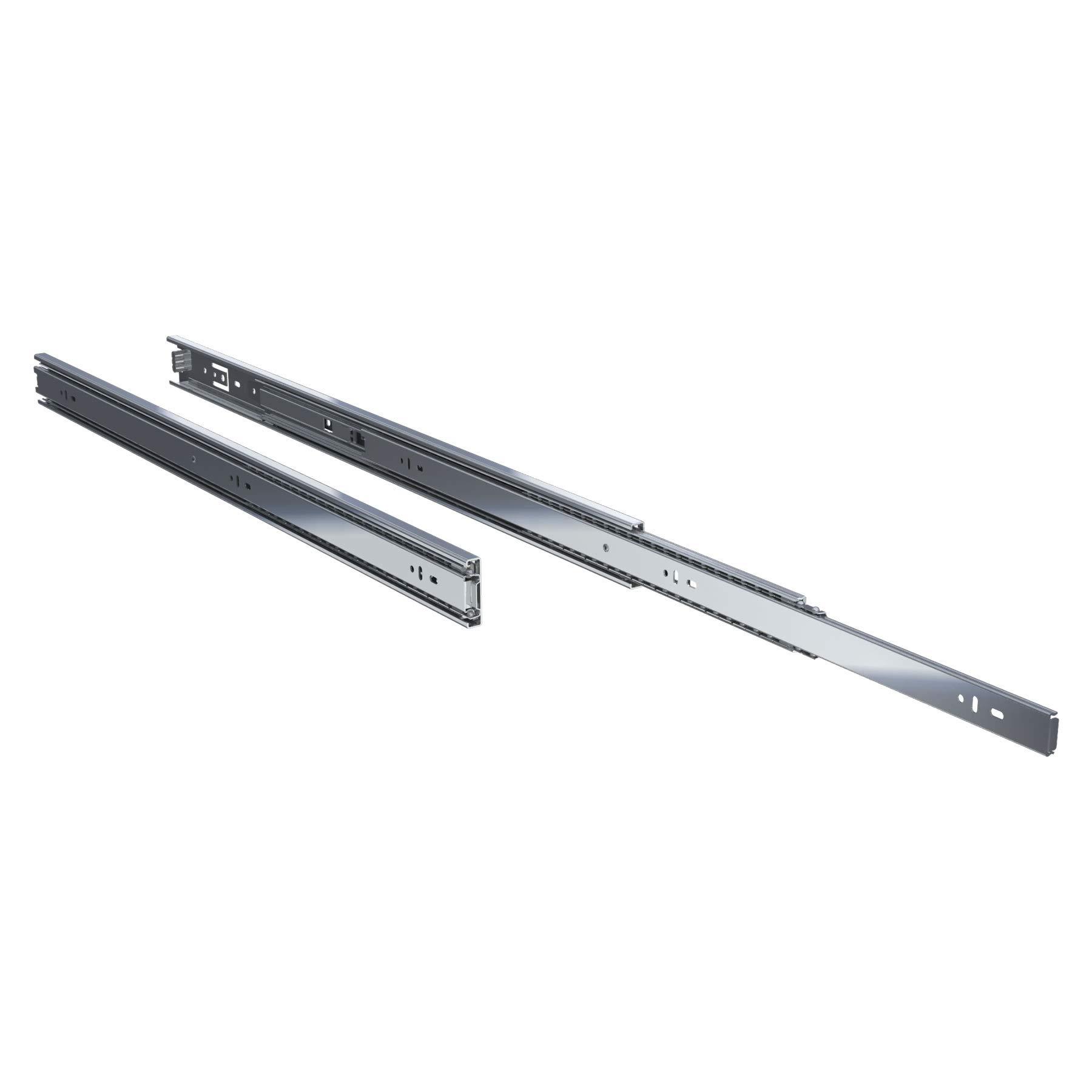TCH Hardware 2 x 28'' Inch 100 LB Steel Full Extension Ball Bearing Drawer Slides - Kitchen Cabinet Desk Draw