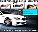 ZForce Headlight Perfect Fit PreCut Sheets Paint Protection Clear Bra Film Kit for 2012-2015 Jaguar XK
