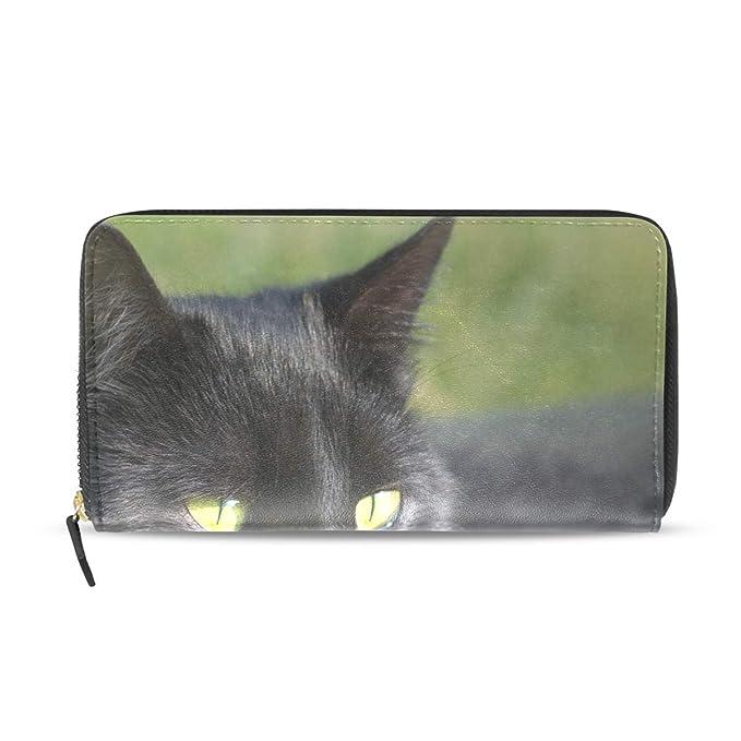 a3e1217e3ac9 Black Cat Genuine Leather Wallet Case Credit Card Holder Travel ...
