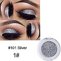 Niome Pro Makeup 8 Colors Glitter Shimmer Metallic Eyeshadow Palette Matte Pigment Eye Shadow Cosmetics 1#Silver