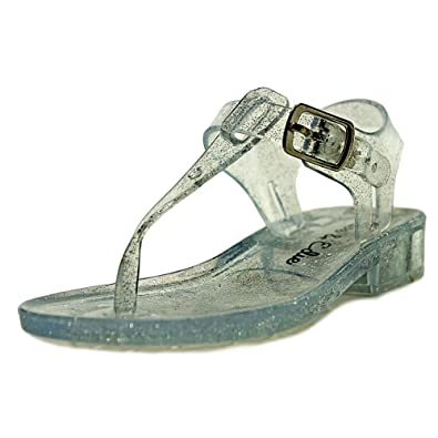 Olive Edie Girls JULIE Buckle Ankle Strap Slide Sandals Clear Size 5M