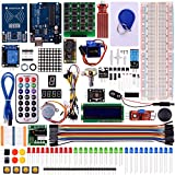 Kuman Upgrade RFID Master Starter Kit for Arduino with Tutorials, UNO R3, RC522, LCD1602, Breadboard and Sensors Modules Motor Servo Jumper Wire K6
