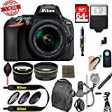Nikon D5600 DSLR Camera + AF-S DX 18-55mm VR Lens Kit + Accessory Bundle 64GB SDXC Memory
