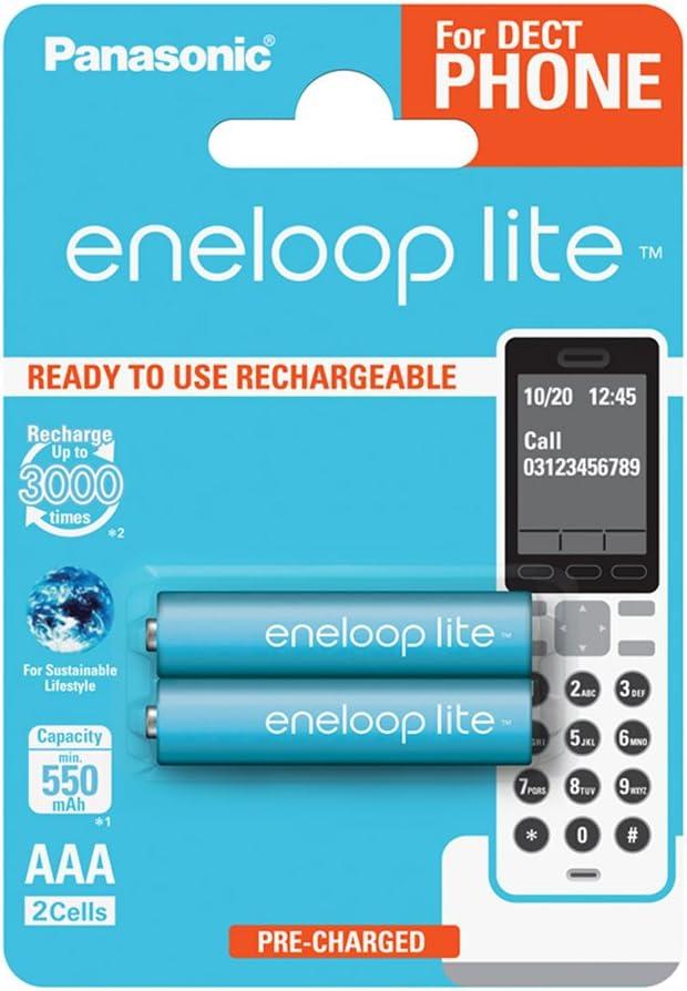 Eneloop Panasonic 5410853058809 ENELOOP Lite R03/AAA 550mAh 2 szt Blister, 2er Pack DECT: Amazon.es: Electrónica