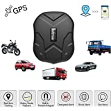 TKSTAR Hidden Vehicles GPS tracker,Waterproof Real Time Car GPS Locator  Anti Theft Alarm Tracking Device Strong Magnet For Motorcycle/Trucks/Bike Support Android and iOS TK905