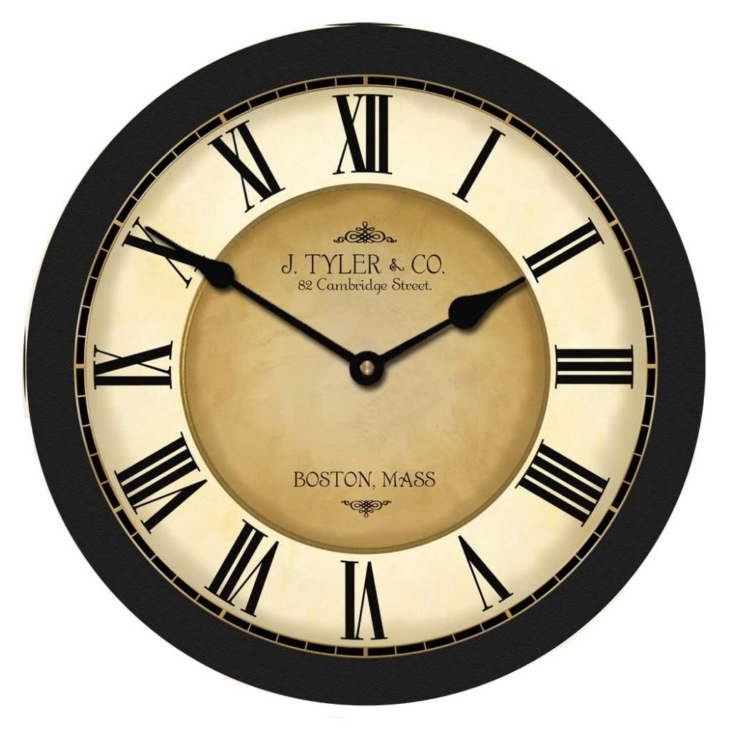 Galway Black Wall Clock, Available in 8 sizes, Most Sizes Ship 2 - 3 days, Whisper Quiet. by The Big Clock Store