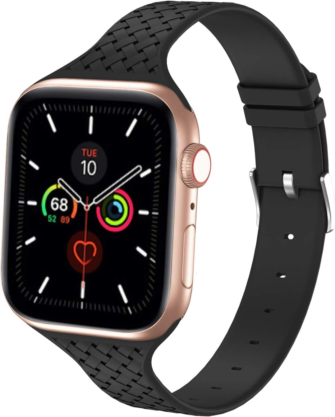 Bagoplus Sport Bands Compatible with Apple Watch Band 40MM 38MM,Silicone Slim Thin Narrow iWatch Bands 38MM 40MM Compatible for iWatch SE & Series 6 5 4 3 2 1