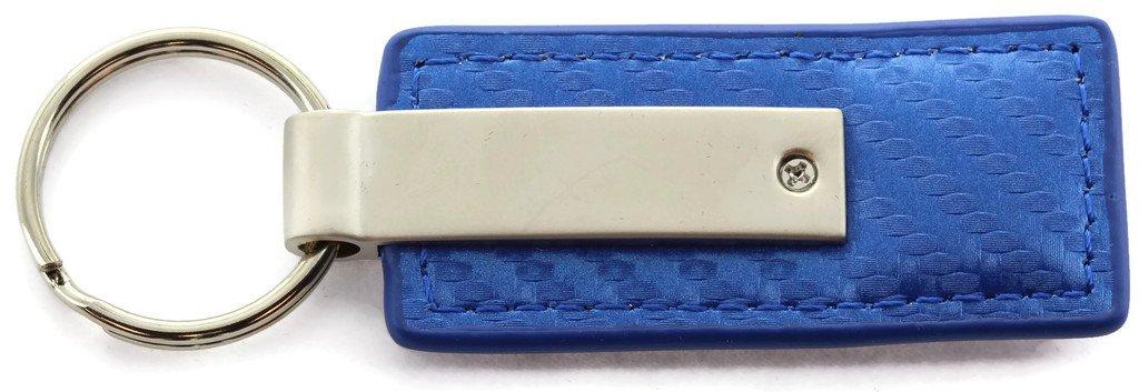 Jeep Grill Blue Carbon Fiber Leather Logo Key Chain Au-Tomotive Gold INC