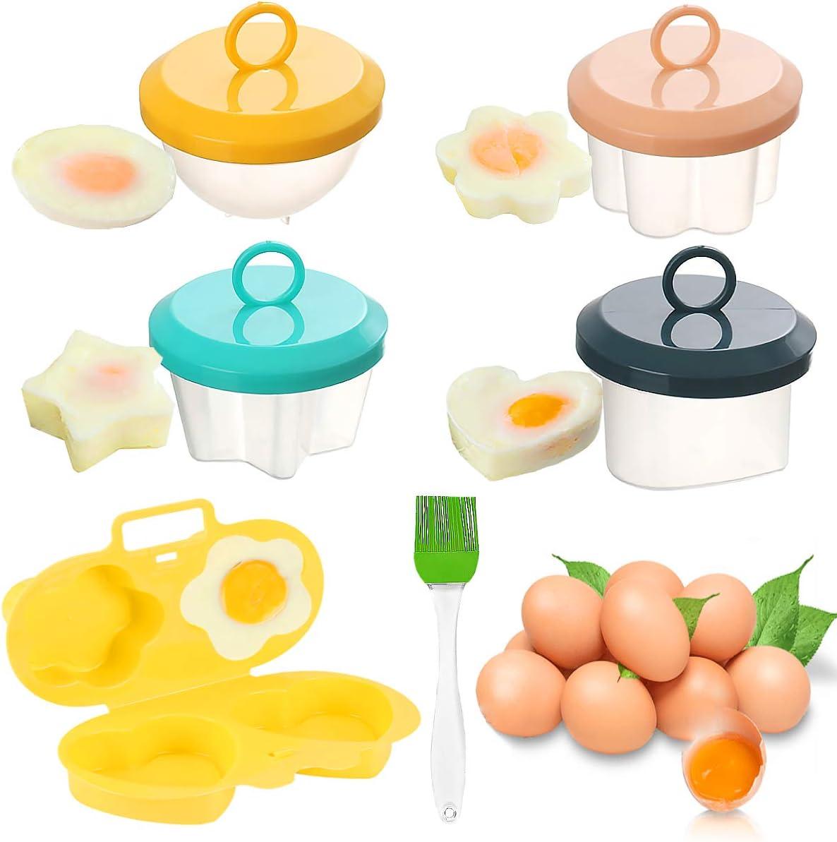 Escalfar Huevos, Senteen 5pcs Escalfador De Huevos Antiadherente Cocedor Huevos Portátil Recipiente Cocer Huevos Microondas Plastico Tazas De Huevos Accesorios de cocina, Para Cacerola Vaporizador