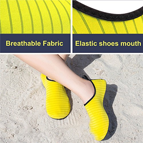 Barefoot Socks Yellow Skin Water Diving Exercise Shoes Surfing Running for Snorkeling Beach Mens Comcrib Outdoor Womens Yoga Swim Shoes UqY08w