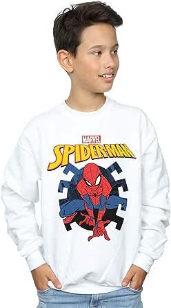 Marvel Niños Spider-Man Web Shooting Emblem Logo Camisa De Entrenamiento
