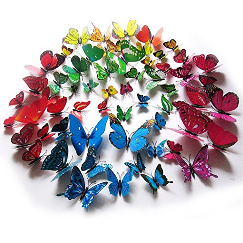 Tiheen 24PCS Butterfly Stickers Decorations product image