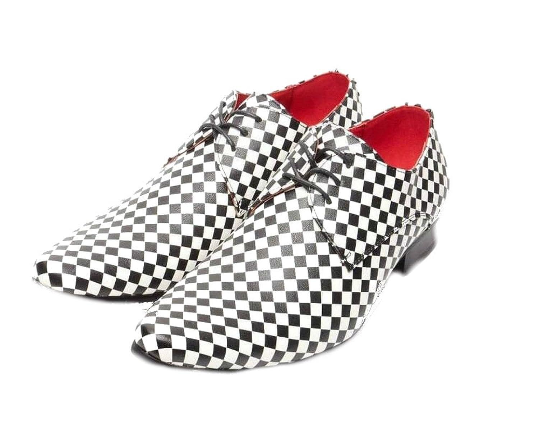 Rossellini Hombre Chessmaster Forro de Piel Disfraz Rock Zapatos - Multicolor, 44