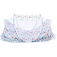 Flameer Baby On The Go Travel Padded Mattress Cot Bed Mosquito Net Safety Net Foldable