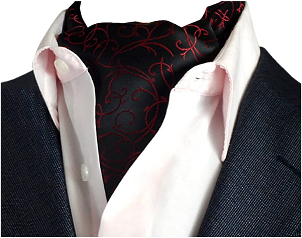 YCHENG Pa/ñuelo Hombre Jacquard Ascot Paisley Corbatas Vintage Cravat Chalina Banquete Fiesta