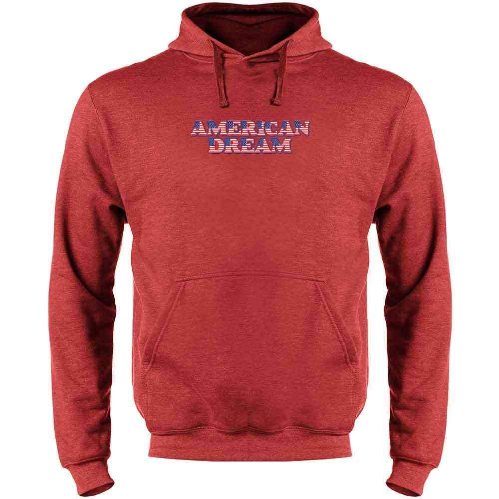 Pop Threads American Dream Mens Fleece Hoodie Sweatshirt