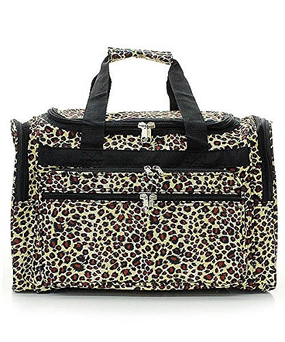 (Handbag Inc Leopard Canvas Lightweight Animal Print 19