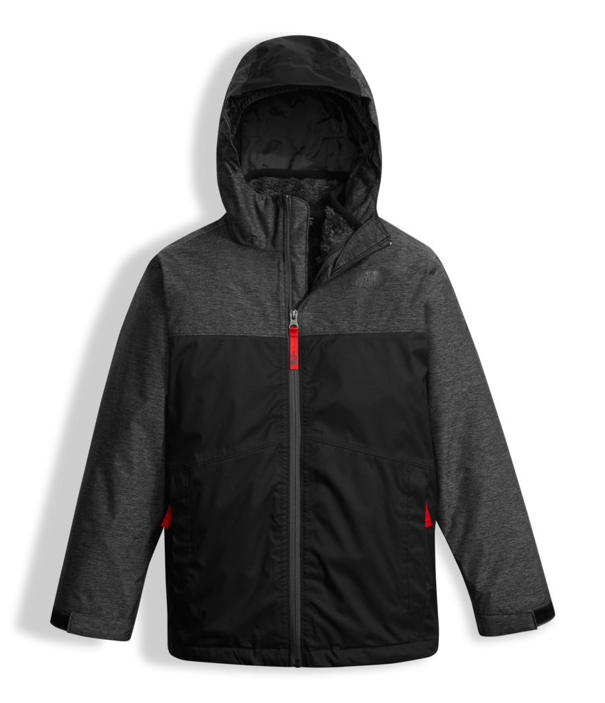 The North Face Boys Chimborazo Triclimate Jacket - TNF Black Heather - M by The North Face