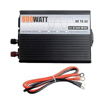 CAPTIANKN Inversor de la energía 600W, C.C. 12V al Adaptador ...