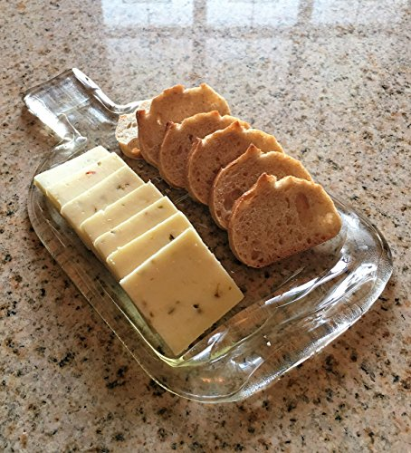 - Woodford Reserve Bourbon Whiskey bottle -Slumped into a Cutting Board or Cheese Tray