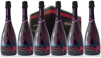 VIÑA ROMALE – Caja Regalo de 6 botellas de Viña Romale Cava Brut Nature Rosado Extremeño de Almendralejo (D.O CAVA). Caja de 6 botellas de 75 cl. 100% ARTESANAL: Amazon.es: Salud y cuidado personal