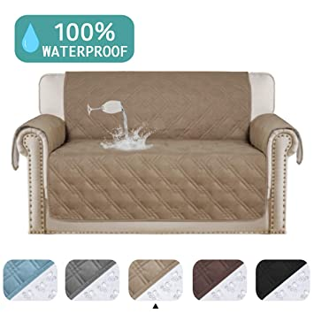 Amazing Turquoize Waterproof Loveseat Covers Pet Friendly Quilted Sofa Covers For Leather Furniture Cover 100 Water Resistant For Couch Covers Non Slip Beatyapartments Chair Design Images Beatyapartmentscom