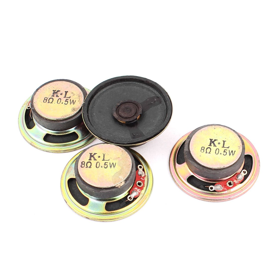 uxcell 0.5W 8 Ohm 50mm Diameter External Magnet Speaker Loudspeaker 4Pcs
