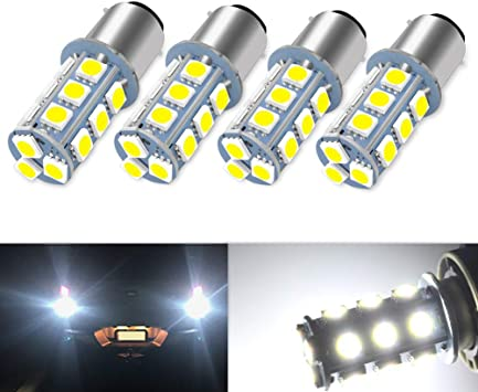 20 Pcs Extremely Bright 1156 1141 1003 1073 7506 BA15S LED Replacement Light Bulbs for Tail Backup Reverse Lights RV Indoor Lights 6000K Xenon White 12V DC