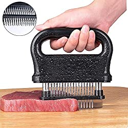 Aolvo Meat Tenderizer Needle Hammer Mallet Professional 48 Blade Meat Tenderizer Stainless Steel Ultra Sharp Non Toxic Space Saving Help Tender Steak Improve The Taste For Chicken Pork