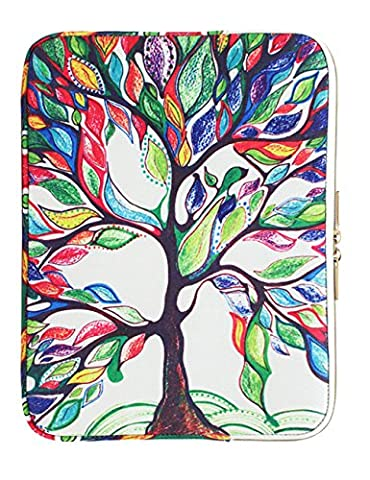 CoolBELL 12.9 Inch iPad Pro Sleeve Case Surface Pro 4 Cover With Colorful Life Tree Pattern Fabric Sleeve Canvas Bag Exclusive For iPad Pro / Surface Pro 4 / 12'' New Macbook / Women / (Ipad Mouse Pen)