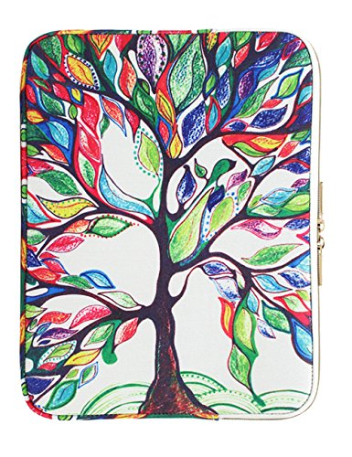 CoolBELL 13.3 Inch Laptop Sleeve Case Cover With Colorful Life Tree Pattern Ultrabook Sleeve Bag For Ultrabook like Acer/Macbook Pro/Macbook Air/Asus/Dell/Lenovo/Women/Men