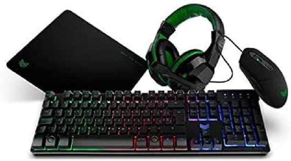 BG X-4 - BGX4PCK - Gaming Setup, Teclado, Auriculares con micrófono, Ratón, Alfombrilla: Bg-Gaming: Amazon.es: Informática