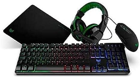 BG X-4 - BGX4PCK - Gaming Setup, Teclado, Auriculares con ...